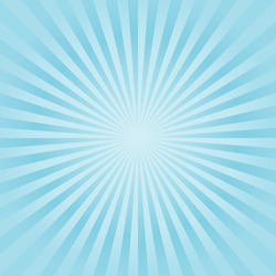 Abstract soft Blue Cyan rays background. Vector EPS 10, cmyk.