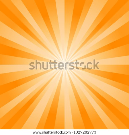 Abstract soft Orange rays background. Vector EPS 10, cmyk