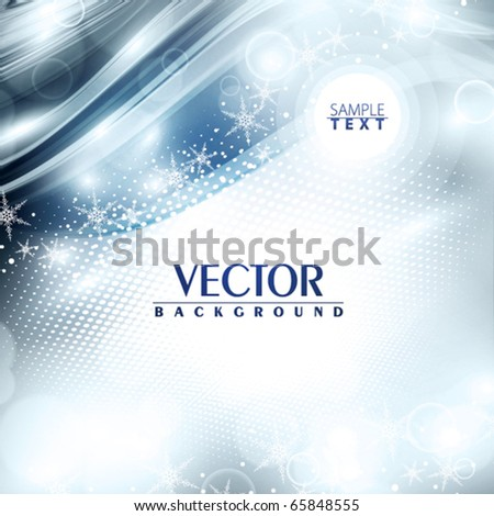 Abstract soft winter background. Vector