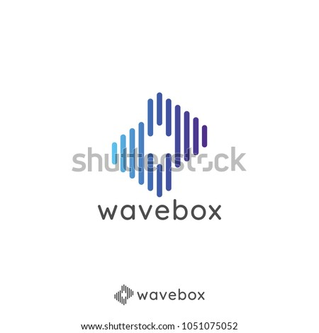 abstract sound audio signal pulse wave for business, apps, technology, or data store logo icon. minimal design symbol template Vector illustration.
