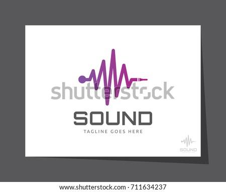 abstract sound audio wave logo icon vector