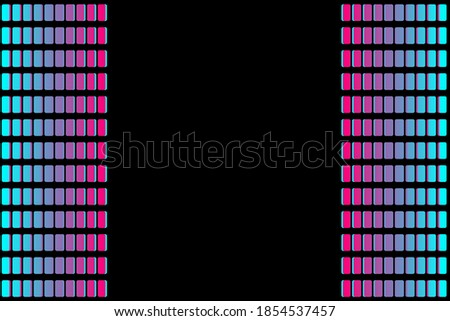 Abstract sound blocks. Colourful equalizer isolated on black background. Music waves, gradient color background. Social media concept.Vector illustration. EPS10 Stock fotó ©