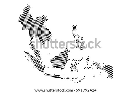 Malaysia vector map download free vector art stock graphics images abstract southeast asia map radial dot planet lines global world map halftone concept gumiabroncs Image collections