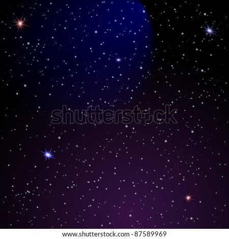 Abstract Space background. Vector illustration