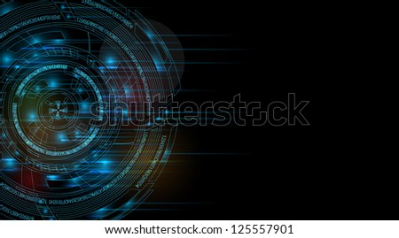 abstract space computer technology business background