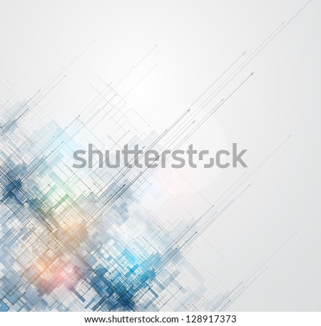 abstract space ray circuit cyber high technology business background