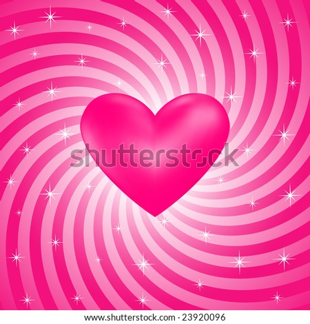 Abstract Sparkling Heart Background