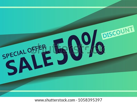 abstract special offer discount