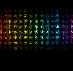 Abstract spectrum dark background with colored sparkles. EPS10 vector.