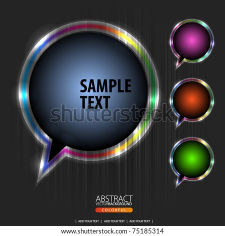 Abstract speech bubble vector background