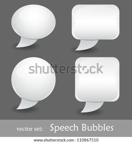 Abstract speech bubble vector set