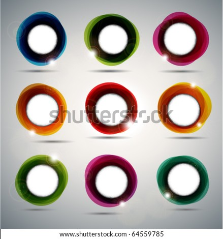 Abstract Speech Bubbles. - stock vector