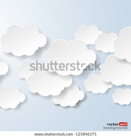 abstract speech bubbles in the...