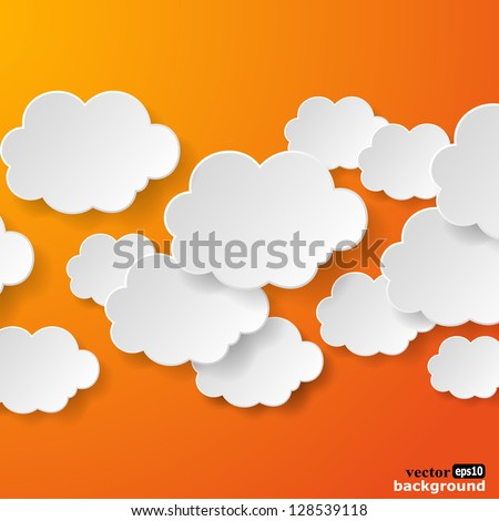 abstract speech bubbles in the