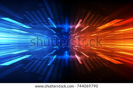 Abstract speed technology concept. vector illustration background