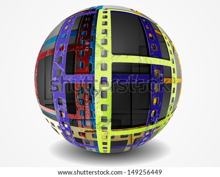 Stock Photo abstract sphere, film