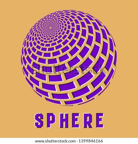 abstract sphere logo symbol