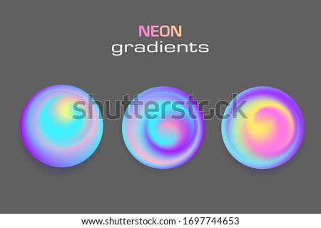 abstract sphere neon colors