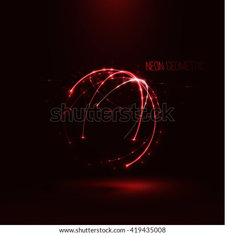 abstract  sphere shape of