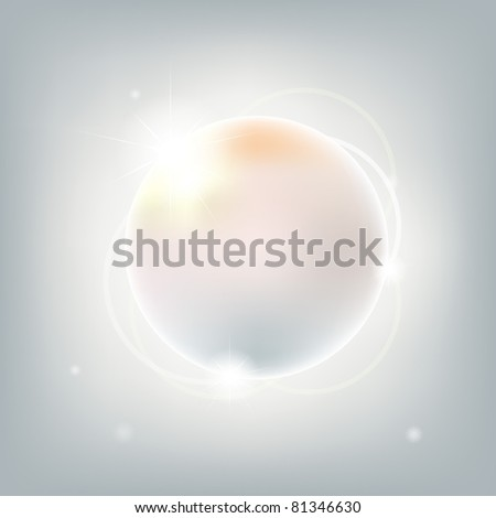 Abstract Sphere With Stars, Vector Illustration