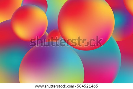 abstract spheres with colors