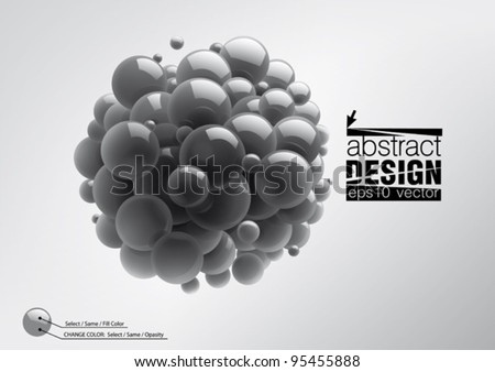 Abstract spheres with reflective surface