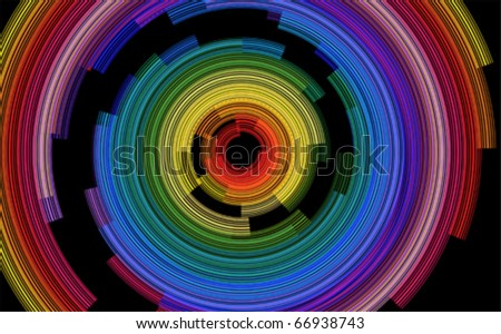 abstract spiral color