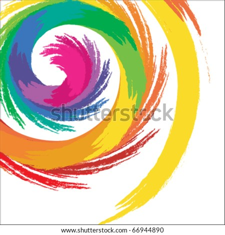 Abstract Spiral Color Background - Vector