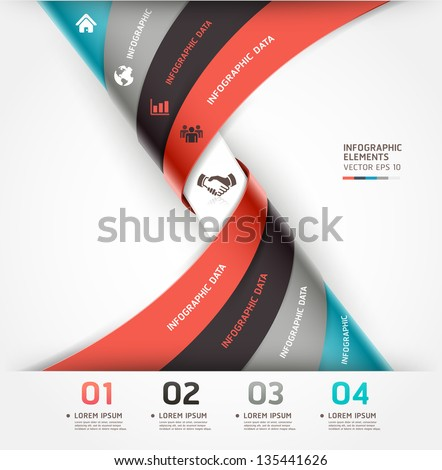 Abstract spiral infographics options banner. Vector illustration. can be used for workflow layout, diagram, number options, web design.