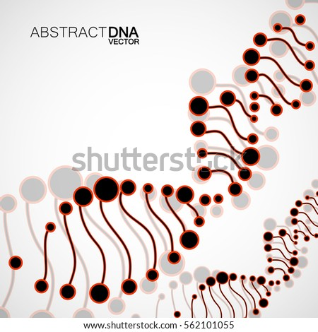 abstract spiral of dna
