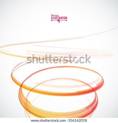 abstract spiral on white