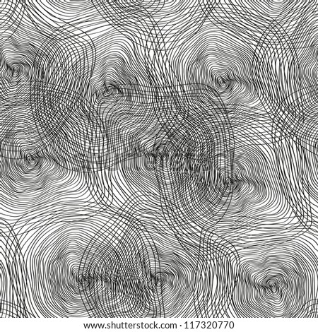 Abstract spiral seamless background, black and white