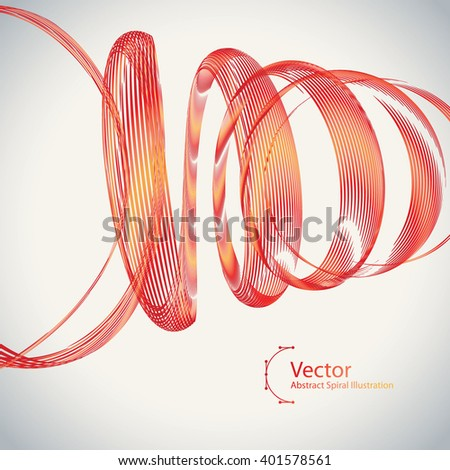 abstract spiral vector colorful