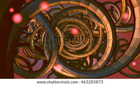 abstract spiral wire background