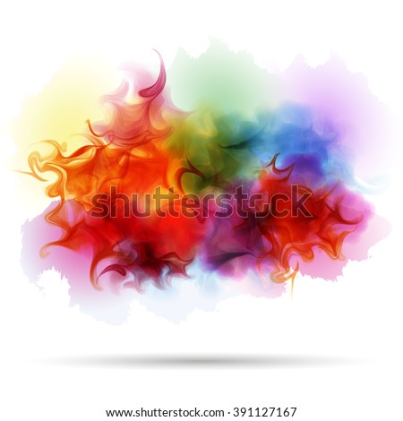 abstract splash colorful smoke