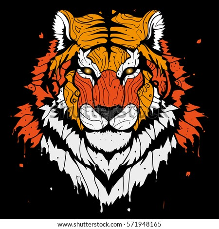 abstract splash tiger background