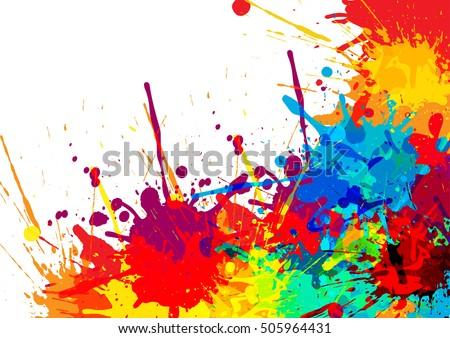 abstract splatter color background illustration vector design ez