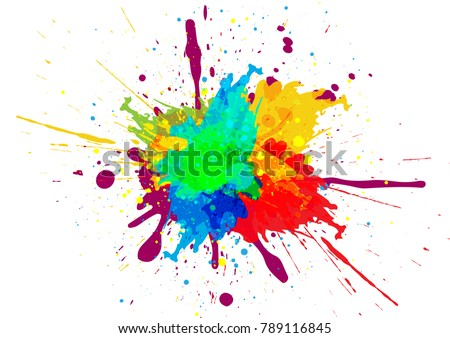 abstract splatter color