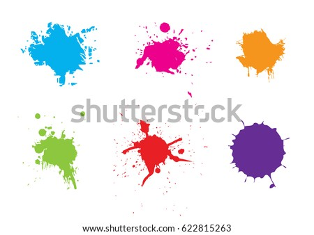 abstract splatter color pack