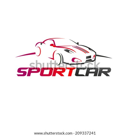 abstract sport car design