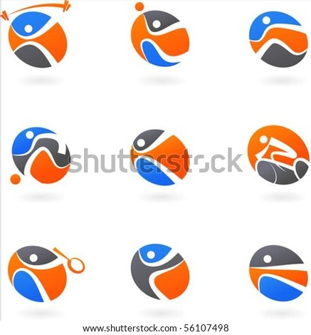 Abstract sport icons and backgrounds