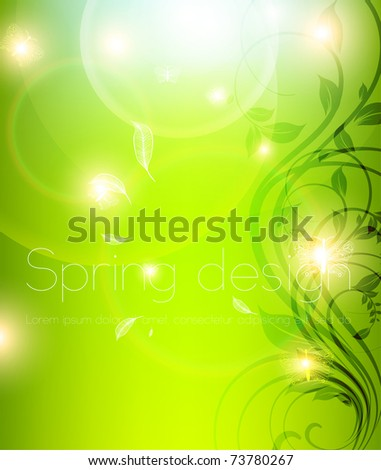 Abstract spring floral background. eps 10.
