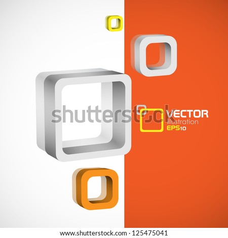 Abstract square background. Vector illustration. Eps 10.