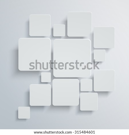 abstract square background white vector design