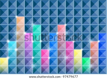 abstract square background with colors, vector