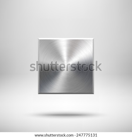 abstract square badge  blank