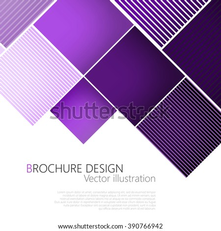 abstract square purple