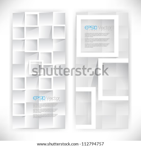 abstract square shapes background illustration. eps10 vector format - stock vector
