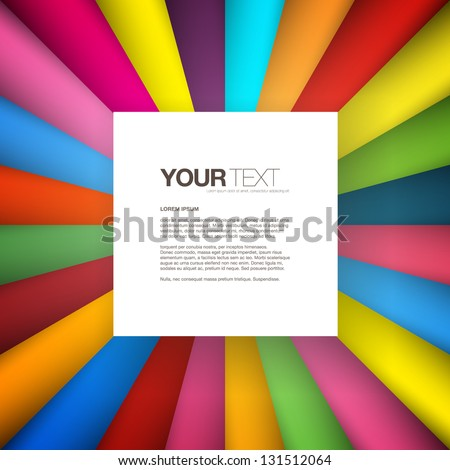 Abstract square text box design background vector