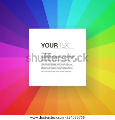 abstract square text box design